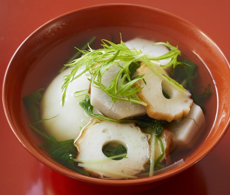 広島風「かき風味の鯛ちくわ雑煮」
