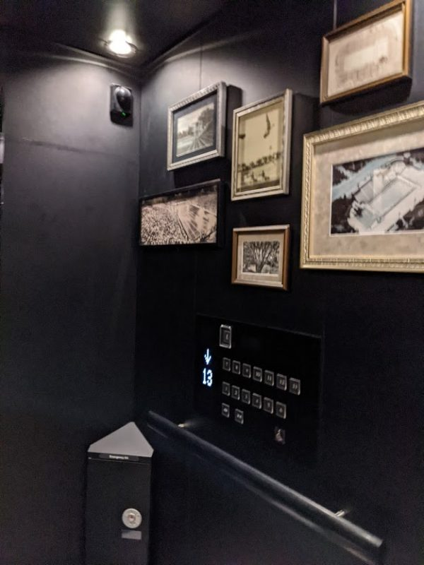 「三井ガーデンホテル神宮外苑の杜プレミア」エレベーター