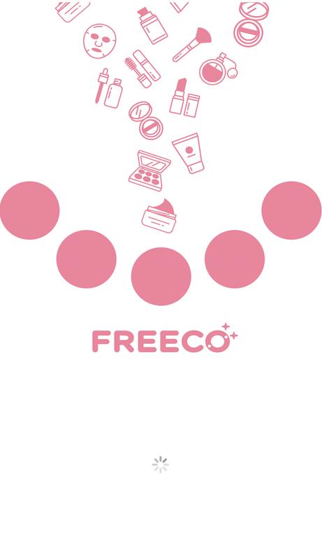 コスメレビューアプリ「FREECO」のトップ画面