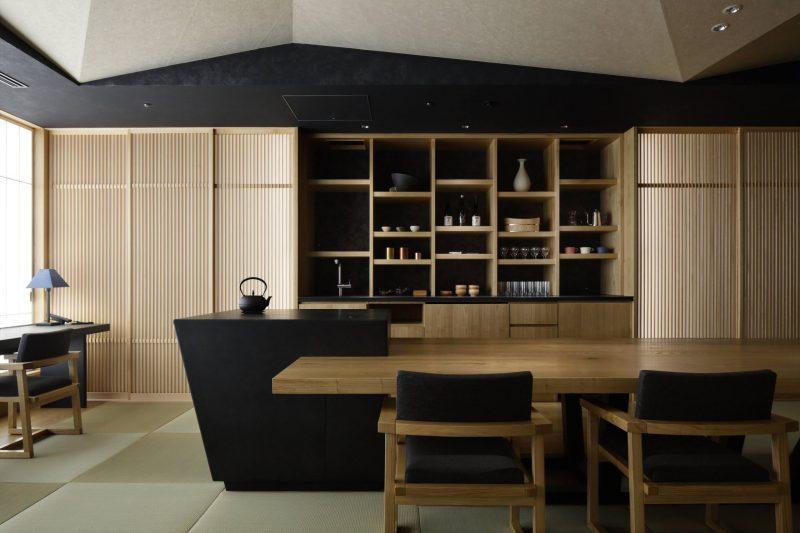日本旅館「星のや東京」お茶の真ラウンジ