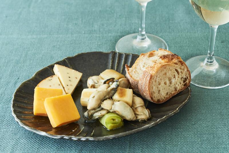 かきのオイル漬け&チーズ