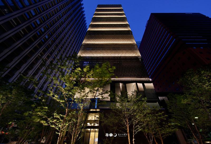 日本旅館「星のや東京」の外観
