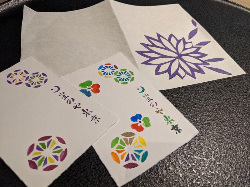 日本旅館「星のや東京」のアクティビティ「紋切体験」