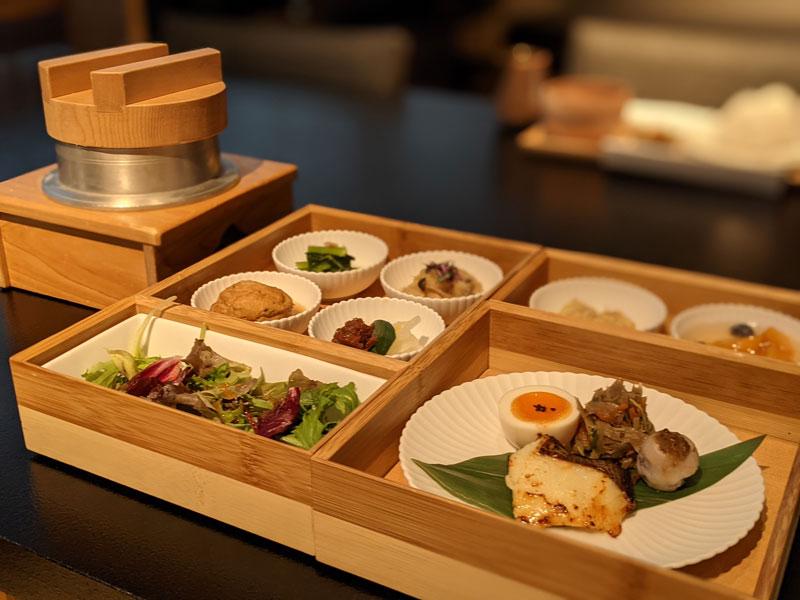 日本旅館「星のや東京」の朝食