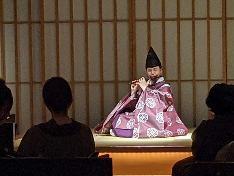 日本旅館「星のや東京」の雅楽の演奏