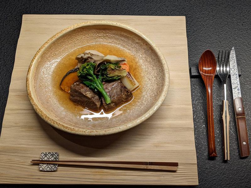日本旅館「星のや東京」ダイニングのコース料理