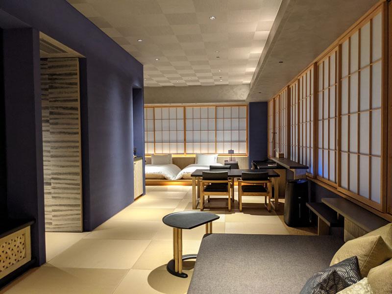 日本旅館「星のや東京」の「菊」の客室