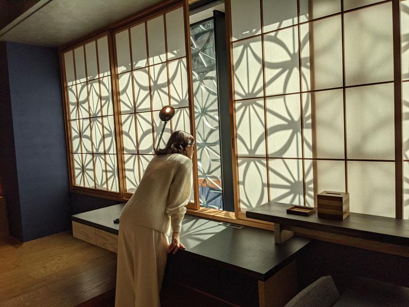 日本旅館「星のや東京」客室の外装