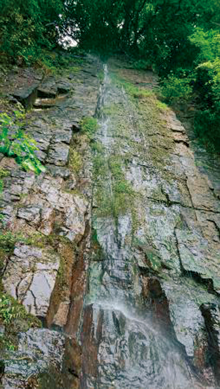 金刀比羅宮のそりたつ滝