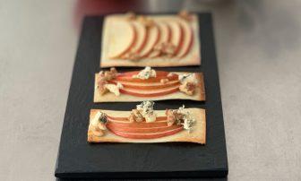 スイーツピザを春巻きの皮でヘルシーに「りんごとくるみのパリパリpizza」【市橋有里の美レシピ】