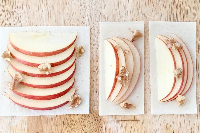 市橋有里がレシピ考案した「りんごとくるみのパリパリpizza」
