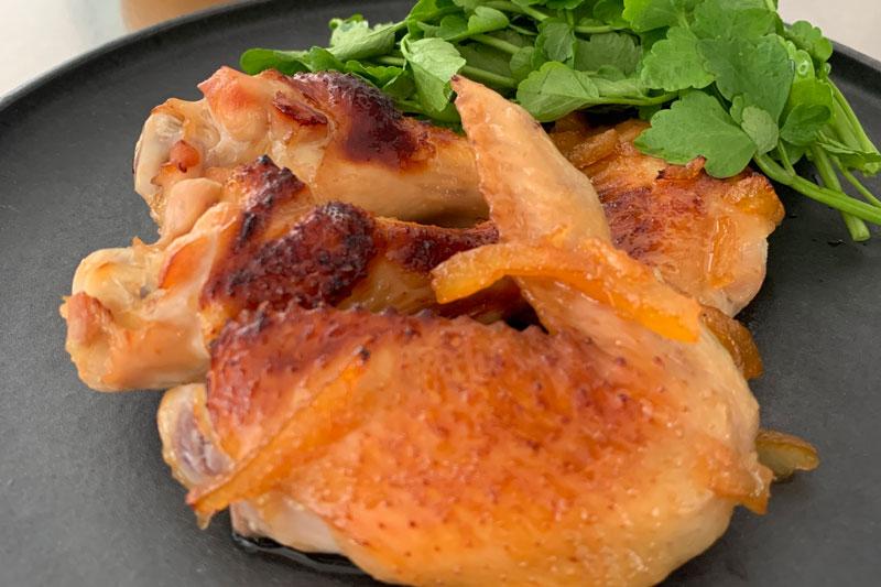 市橋有里がレシピ考案した「鶏肉のゆず茶ロースト」