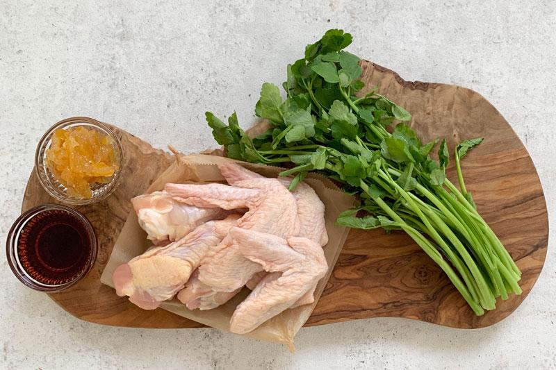 市橋有里がレシピ考案した「鶏肉のゆず茶ロースト」材料