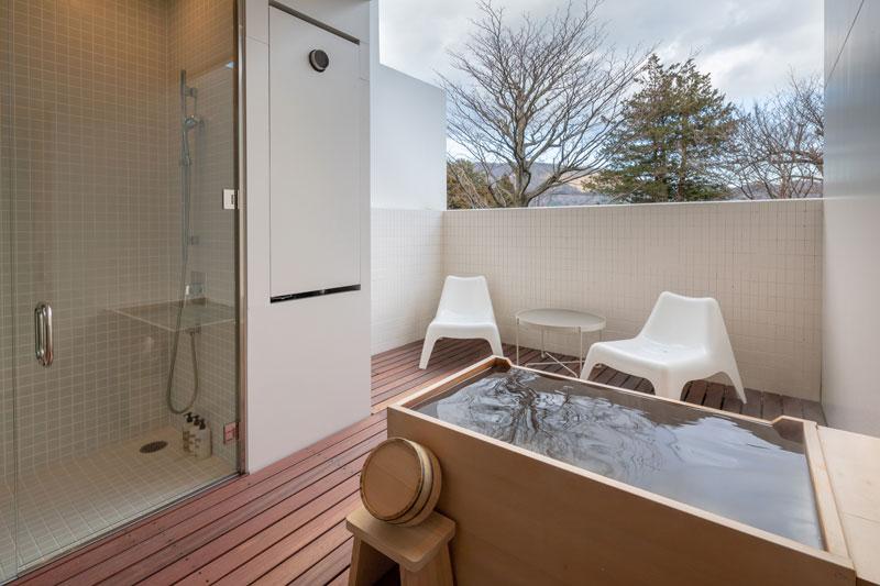 「ブックホテル 箱根本箱」部屋のお風呂