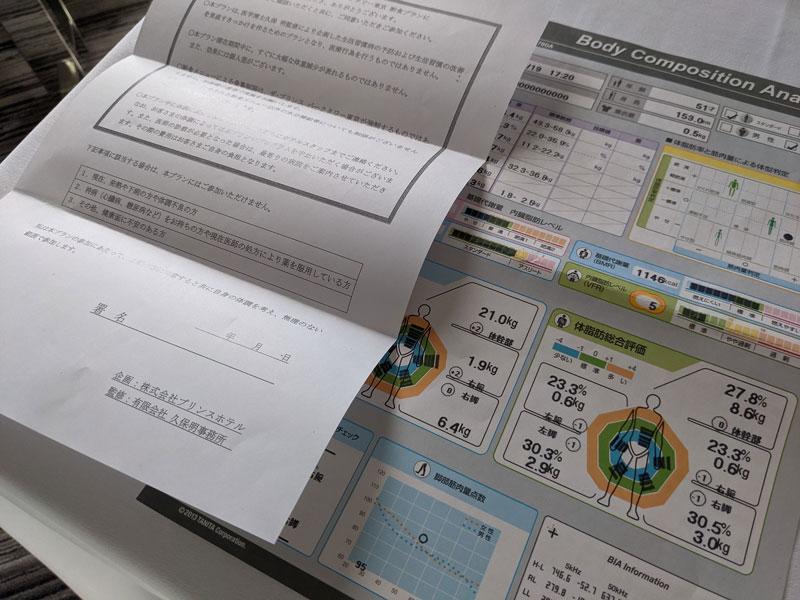 「ザ・プリンス パークタワー東京」体測定結果