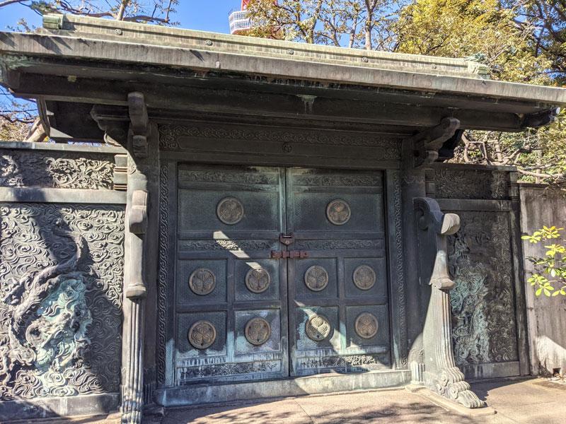 徳川将軍家の墓所入口