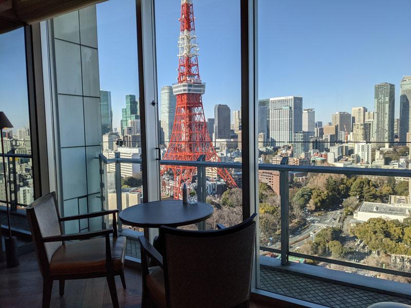 「ザ・プリンス パークタワー東京」クラブラウンジ
