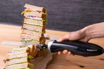切りにくい食材がキレイにスパッと簡単に切れる!クイジナートの電動ナイフが新発売