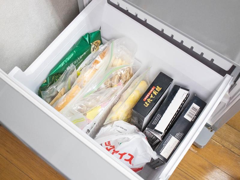 整理収納した冷凍庫のイメージ