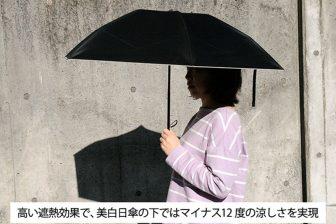"""緊急事態宣言明けは紫外線に注意!肌を守る""""完全遮光""""の折りたたみ日傘が登場"""