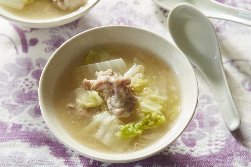 豚肉と白菜の中華風とろみスープ