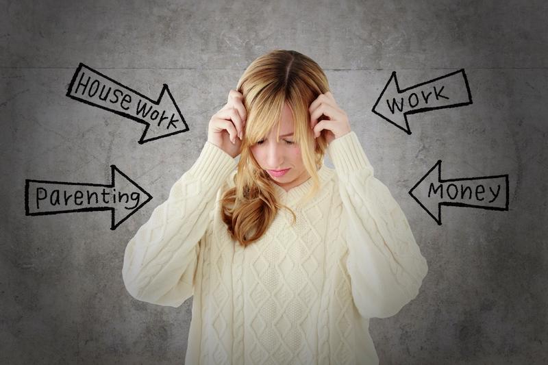 ストレスに悩む女性