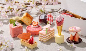 高級ホテルのアフタヌーンティーを自宅にテイクアウト!桜&いちごのスイーツで春を満喫[コンラ…