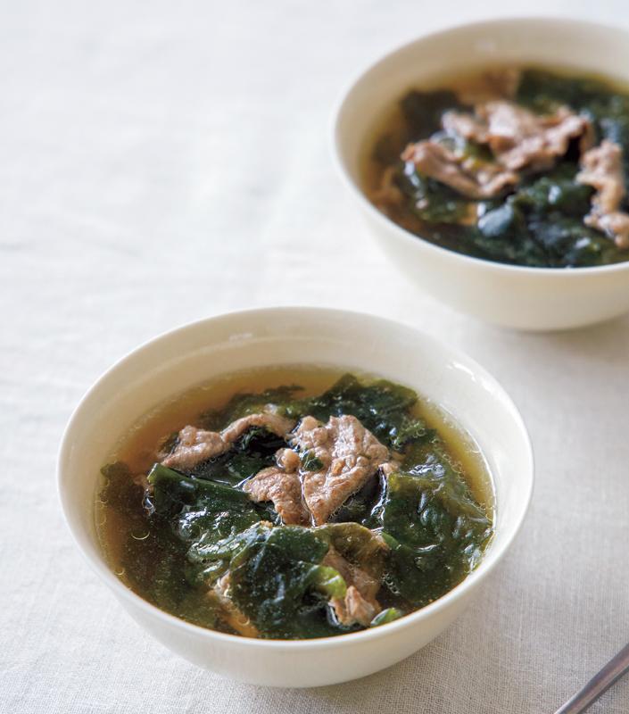 ウンタクのお祝いわかめスープ