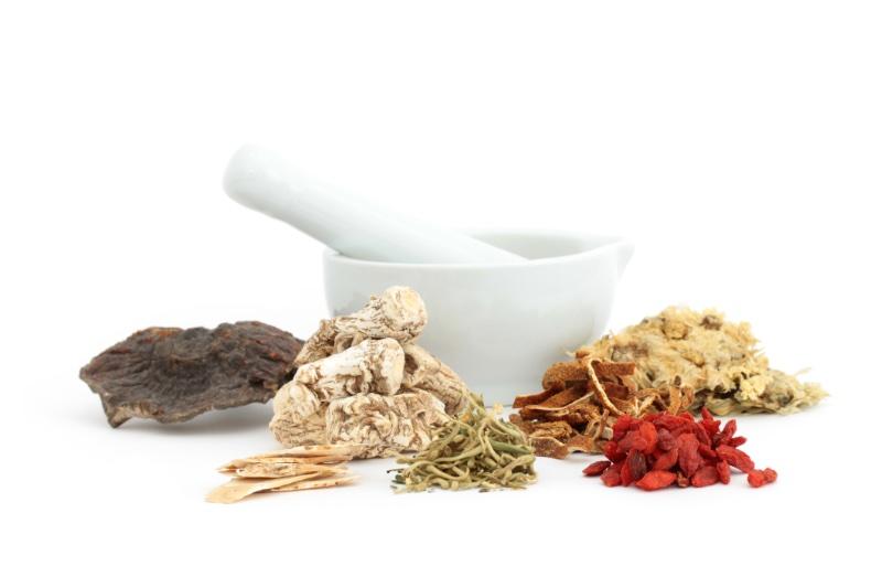 漢方の生薬とすり鉢