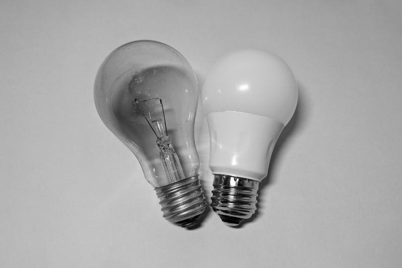 2タイプの電球