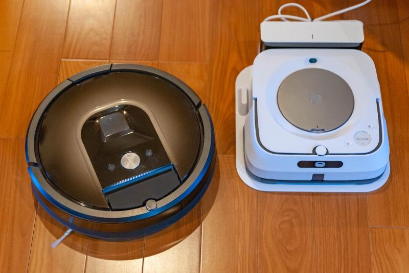 2種のロボット型掃除機