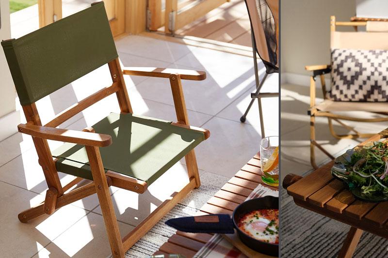 ニトリ・木製折りたたみローチェア: