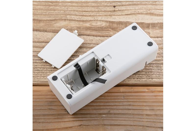 貝印『コンパクト電動シャープナー』の電池を入れる部分