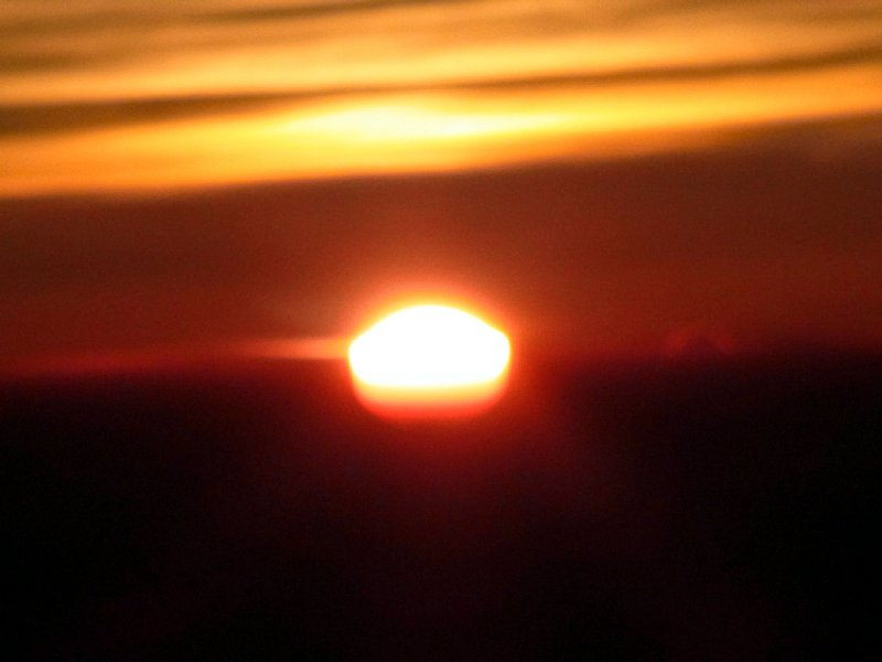 キリマンジャロで見た朝日