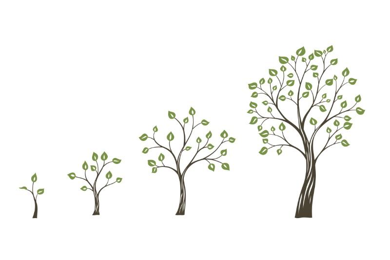 成長していく木のイラスト