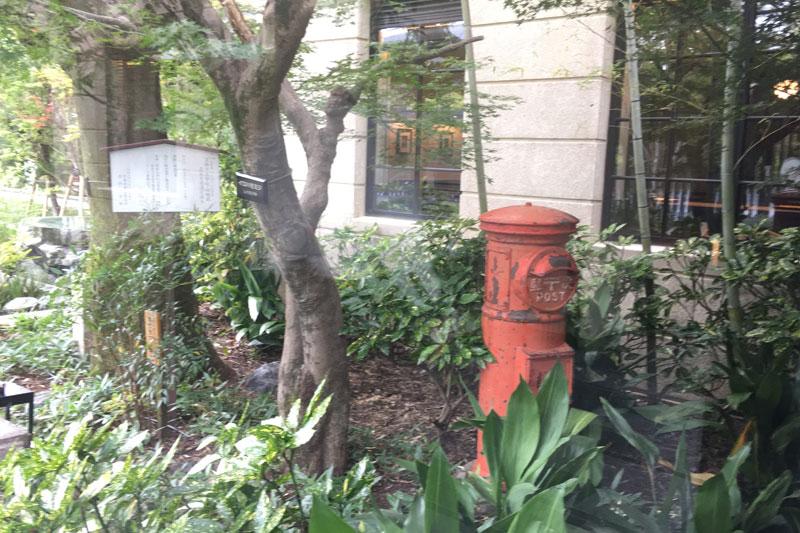 「ザ・ホテル青龍 京都清水」敷地内にあるポスト