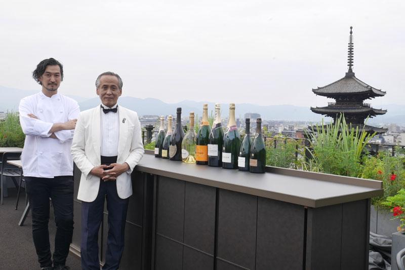 「ザ・ホテル青龍 京都清水」料理長の佐藤芳人氏、西田稔氏