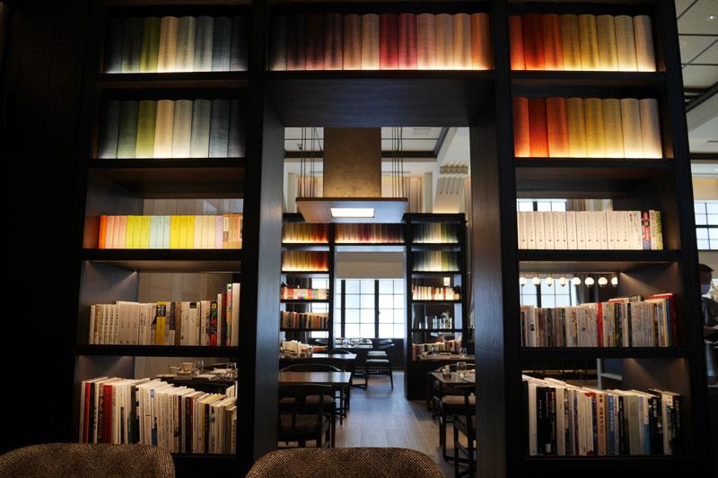 「ザ・ホテル青龍 京都清水」館内のレストラン「restaurant library the hotel seiryu」