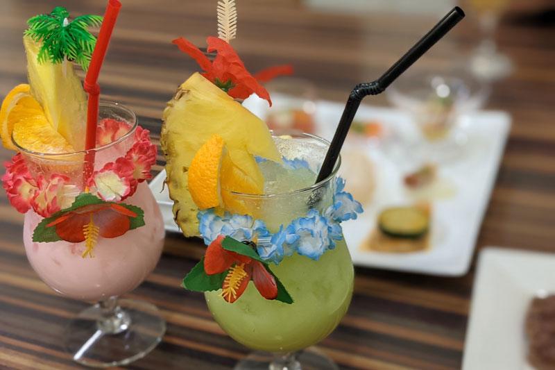「スパリゾートハワイアンズ」フレンチポリネシアンのビュッフェ飲み物