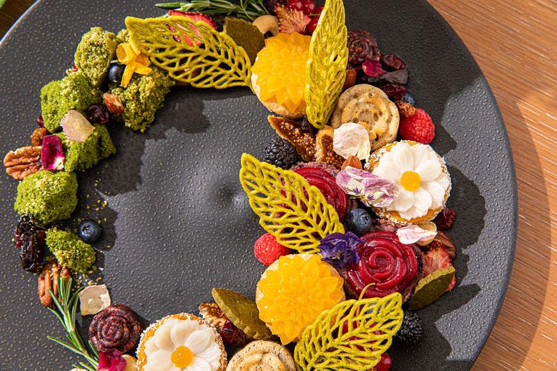 ザ・プリンスギャラリー 東京紀尾井町 「Flower Garden Vegan Afternoon Tea」Sweets Plate