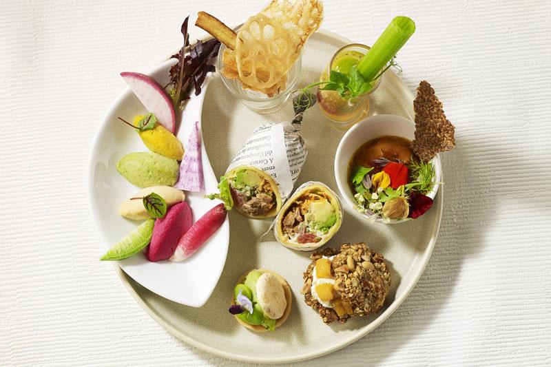 「ザ・プリンス パークタワー東京」「Vegan Afternoon Tea~Playful Colors~」Savory Plate