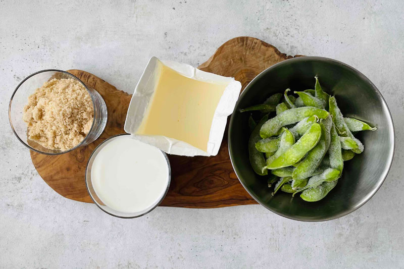市橋有里がレシピ考案した「枝豆のジェラート」材料
