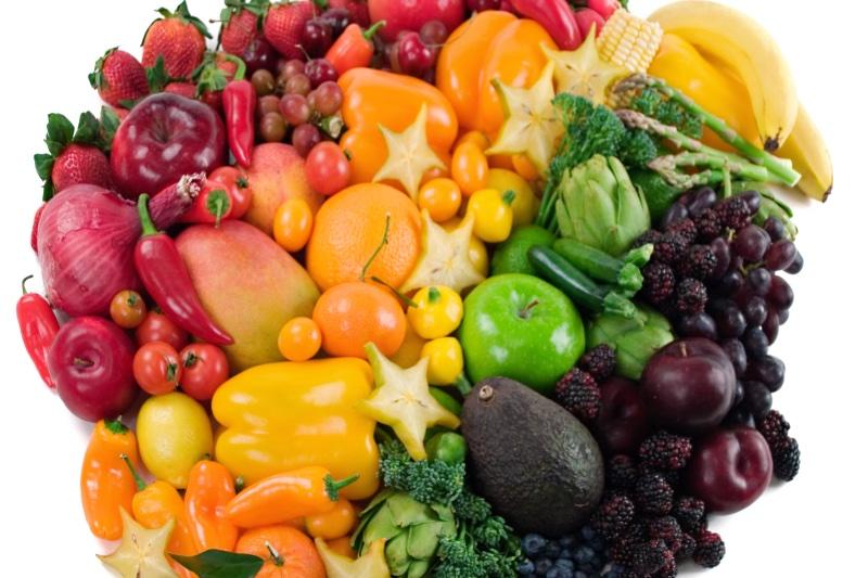 色とりどりの野菜や果物
