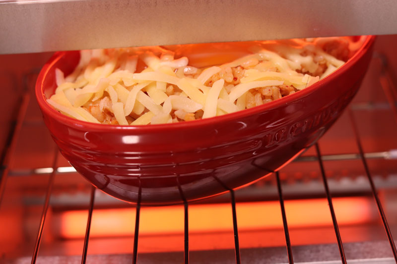 もあいかすみがレシピ考案した「ピリ辛!とろ~り濃厚キムチーズドリア」