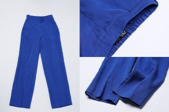 ZARAのブルーリネンパンツは涼しげできれいめ、そしてラク!【R50のファストファッション】