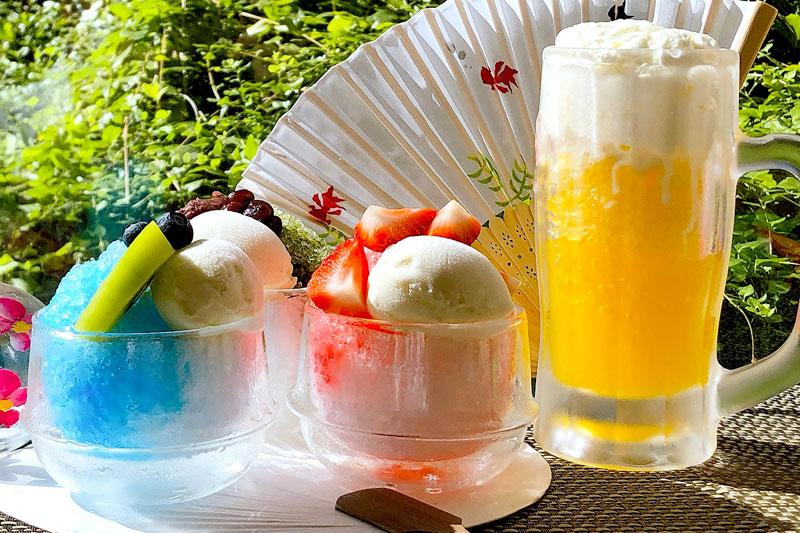 羽田エクセルホテル東急のフライヤーズテーブルで開催される「ビールジョッキ de かき氷」ら4種類のかき氷を販売する「かき氷フェア」