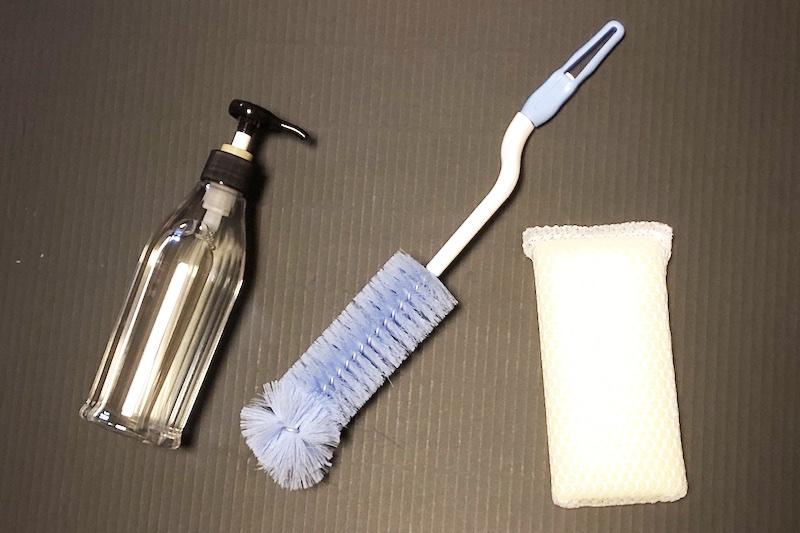 排水口の掃除に使う道具