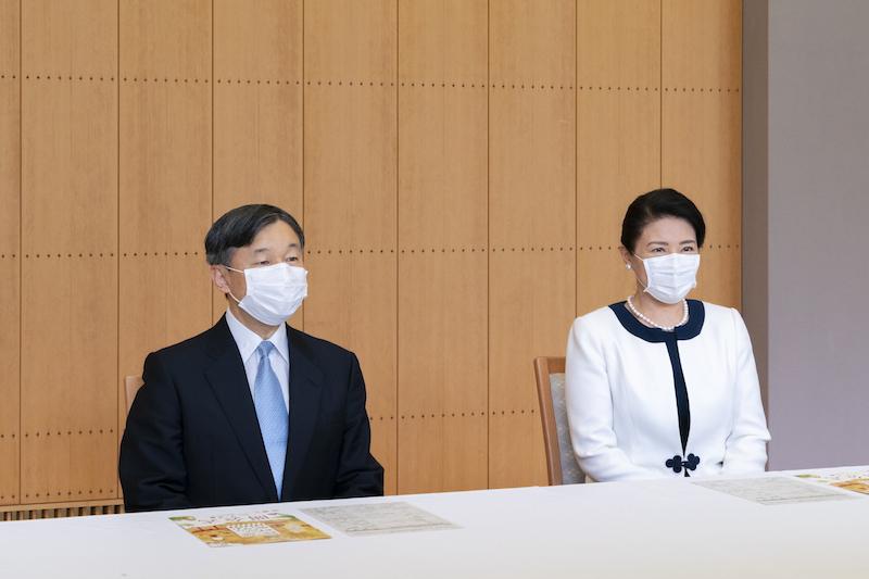 宮崎県で行われた「国民文化祭」の開会式にオンラインで出席された天皇皇后両陛下