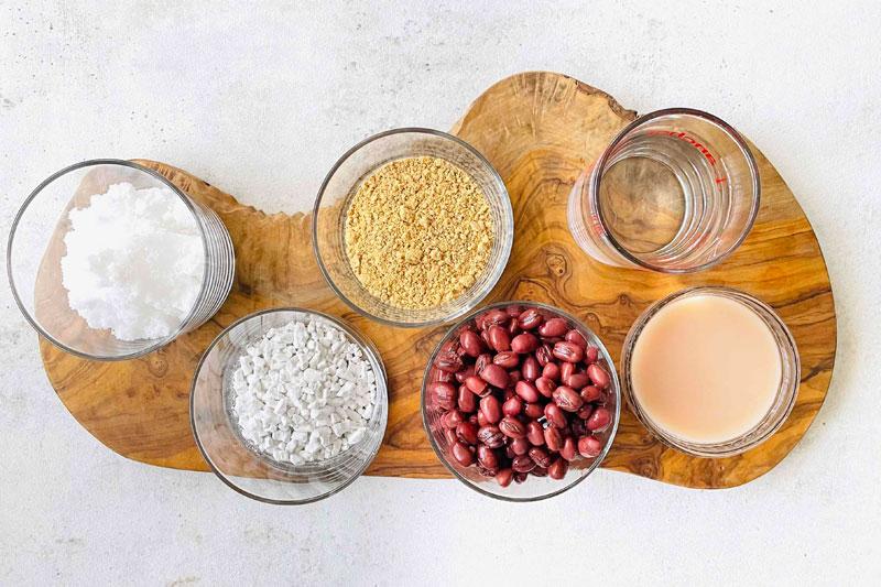 市橋有里考案の究極のダイエット和スイーツ「甘酒あんのわらび餅」材料