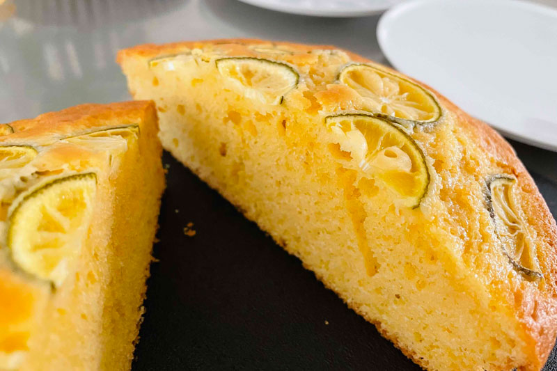 市橋有里がレシピ考案した 「すだちのパウンドケーキ」